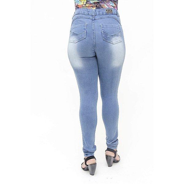 Calça Jeans Legging Feminina Hot Pant Hevox Cintura Alta