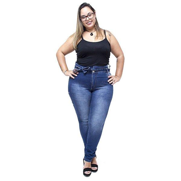 Calça Jeans Credencial Plus Size Clochard Jaciole Azul