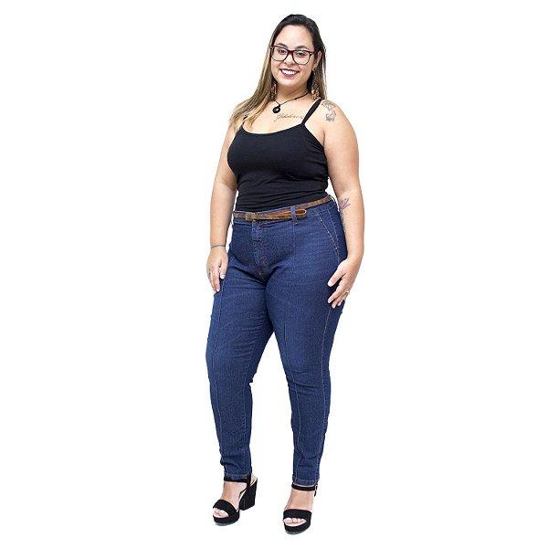 Calça Jeans Cambos Plus Size Skinny Greiciane Azul