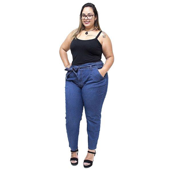 Calça Jeans Cambos Plus Size Clochard Irlani Azul