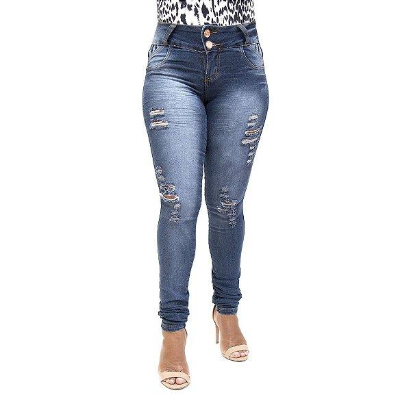 Calça Jeans Feminina Rasgadinha Credencial