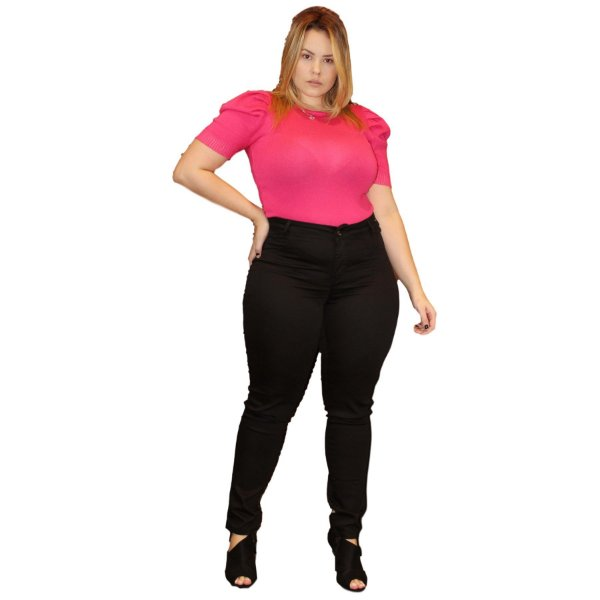 Calça Jeans Credencial Plus Size Skinny Etiani Preta