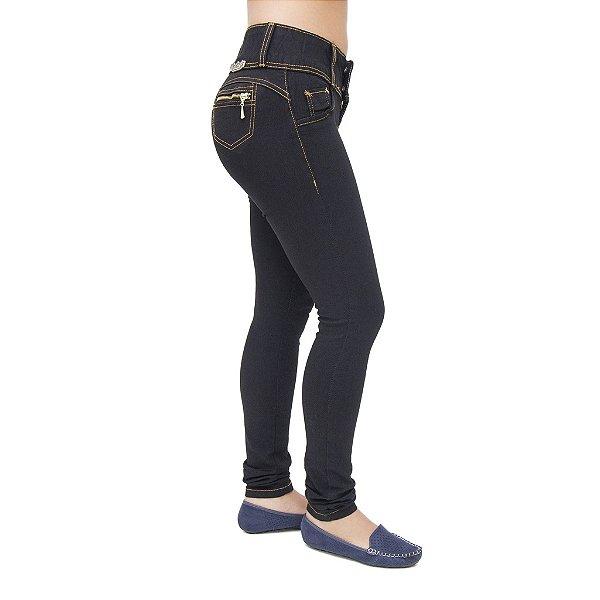 Calça Jeans Feminina Legging Meitrix Preta Levanta Bumbum com Elástico