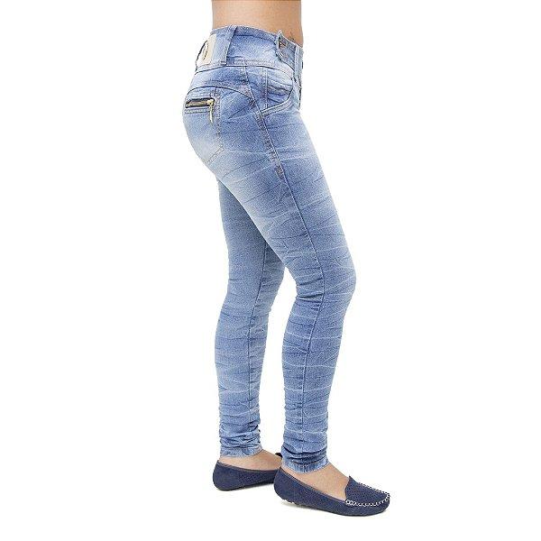 Calça Jeans Feminina Legging Meitrix Azul Levanta Bumbum