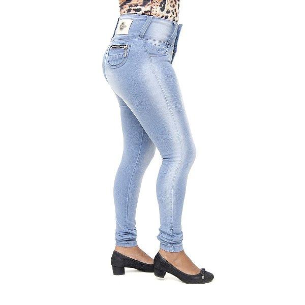 Calça Jeans Legging Feminina S Planeta Clara Levanta Bumbum