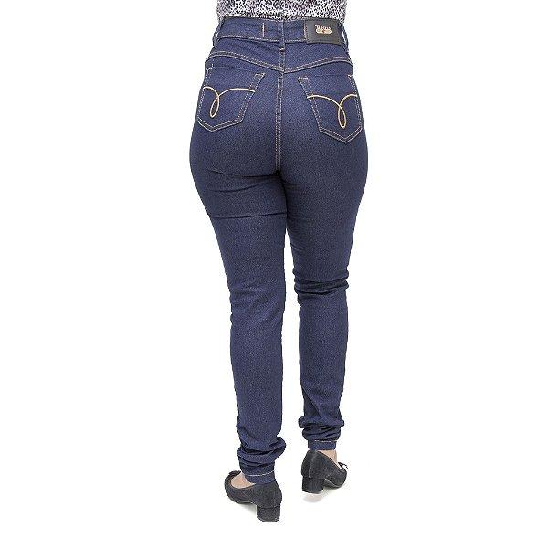 Calça Jeans Feminina Cheris Hot Pant Azul Cintura Alta