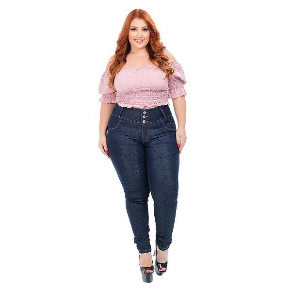 Calça Jeans Credencial Plus Size Skinny Eloieth Azul