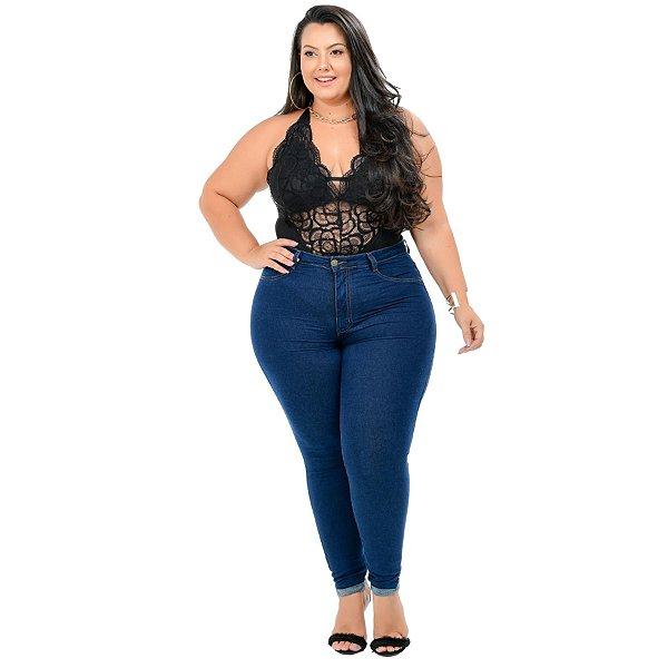 Calça Jeans Cambos Plus Size Skinny Nathassia Azul