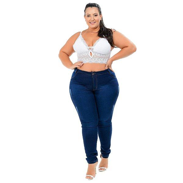Calça Jeans Helix Plus Size Skinny Tanity Azul