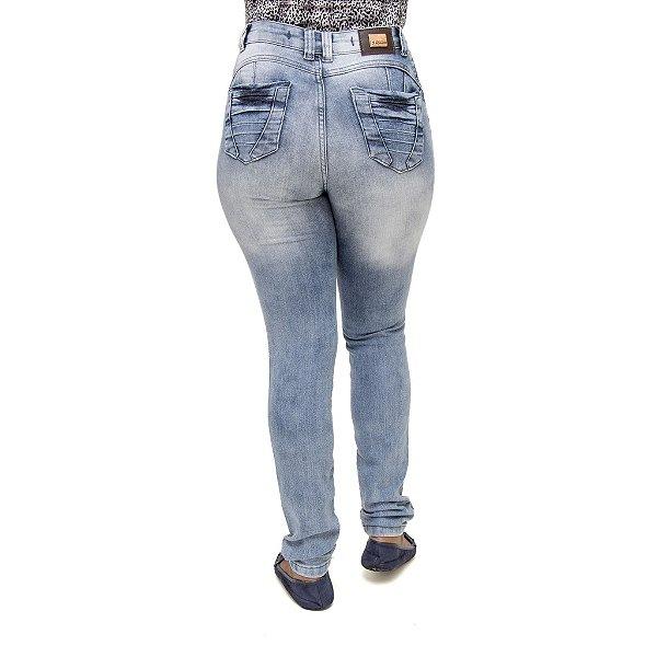 Calça Jeans Feminina S Planeta Hot Pants Clara Cintura Alta