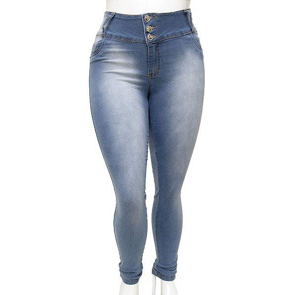 Calça Jeans Feminina Legging  Credencial Plus Size Clara com Cintura Alta
