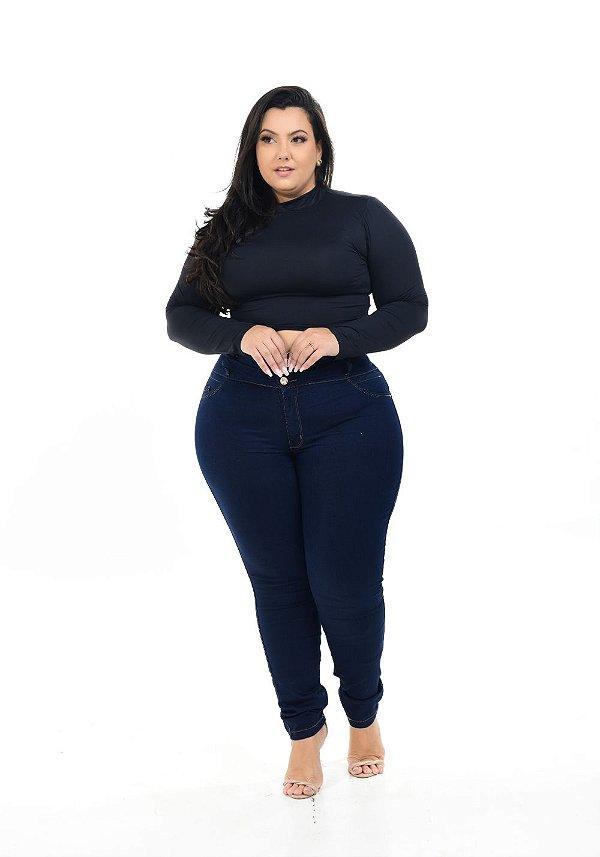 Calça Jeans Hevox Plus Size Skinny Siula Azul