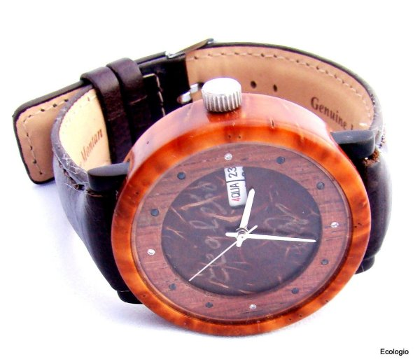 Relógio de Madeira de Luxo Automático 21Jewels