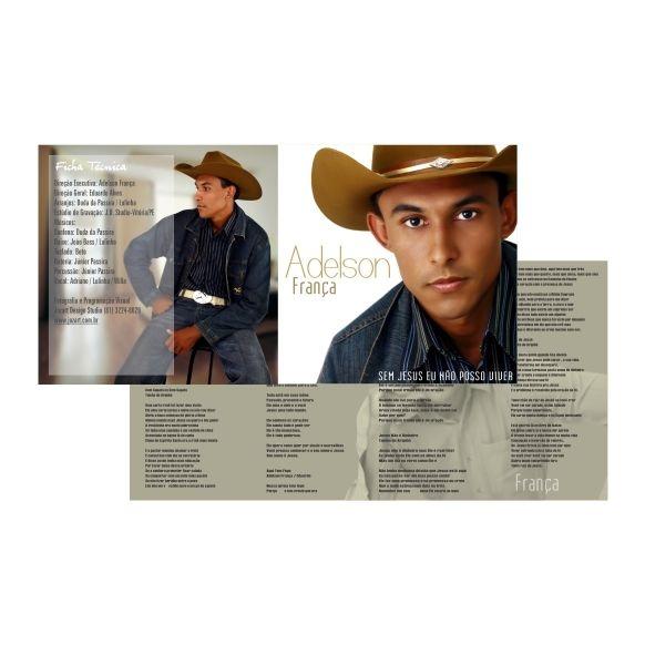 Capa cd para box de acrílico 12x24cm