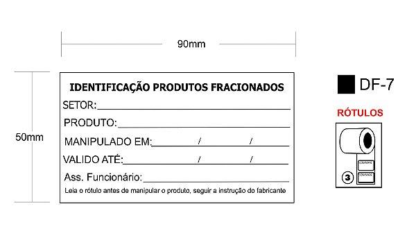 """Rótulo para embalagens de alimentos 90 X 50mm C/1000 """"CONTR. VALIDADE"""""""