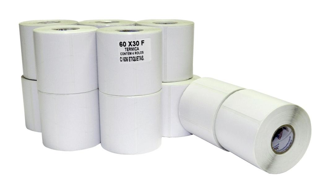 Etiqueta Térmica para Balança - 60X30mm C/575 unidades no rolo