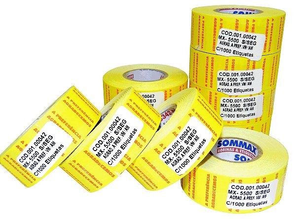 Etiqueta MX-5500 S/Seg c/1000 (VM/AM) para Etiquetadora de Preços