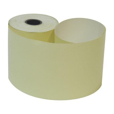 Bobina 57mm 1 Via Térmica Amarela com 23m com 24 rolos