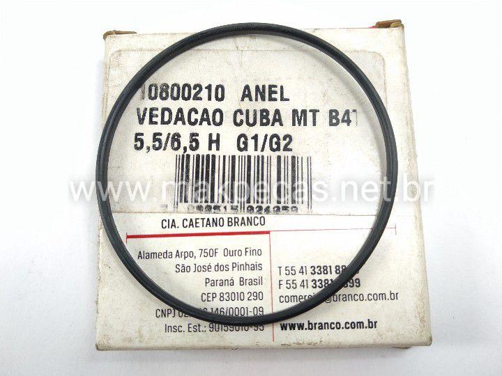 ANEL DE VEDAÇÃO CUBA MOTOR BRANCO B4T 5,5/6,5H G1/G2