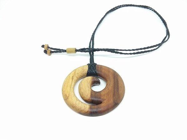Colar Maori Espiral Koru Teca