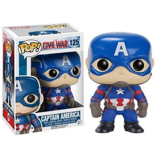 FUNKO POP1 MOVIES CAPITAIN AMERICA CIVIL WAR GUERRA CIVIL CAPITÃO AMÉRICA #125