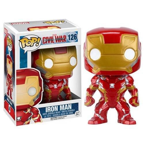 FUNKO POP1 MOVIES IRON MAN CIVIL WAR GUERRA CIVIL HOMEM DE FERRO #126