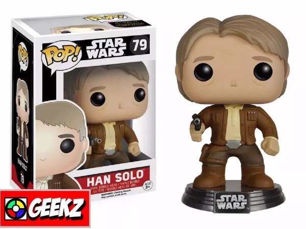 FUNKO POP! STAR WARS THE FORCE AWAKENS O DESPERTAR DA FORÇA HAN SOLO #79