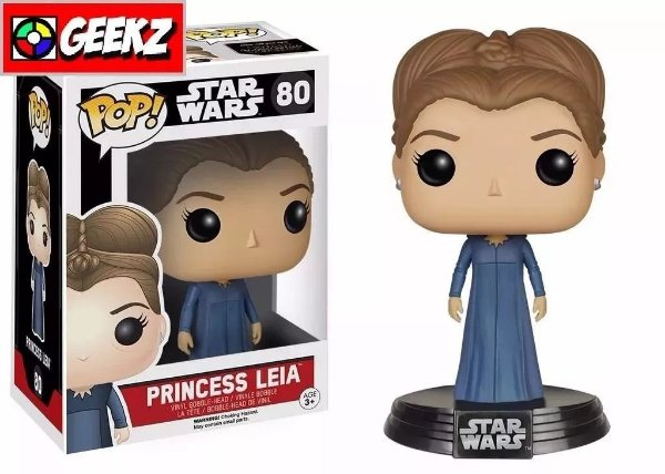 FUNKO POP! STAR WARS THE FORCE AWAKENS O DESPERTAR DA FORÇA PRINCESA LEIA #80