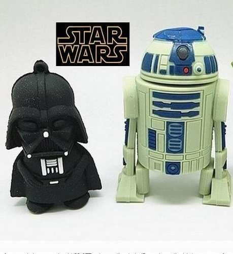 PEN DRIVE STAR WARS 8Gb 16Gb 32Gb 64Gb USB 2.0 DARTH VADER R2D2