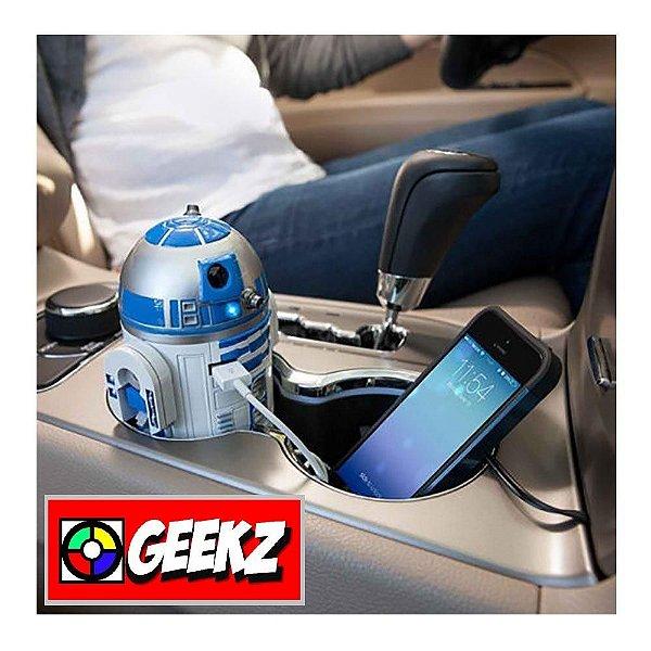 STAR WARS R2-D2 CARREGADOR USB PARA CARRO 2 PORTAS