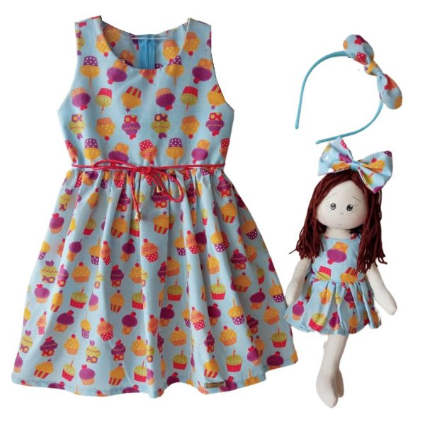 Kit Completo com Boneca Petit Cupcakes
