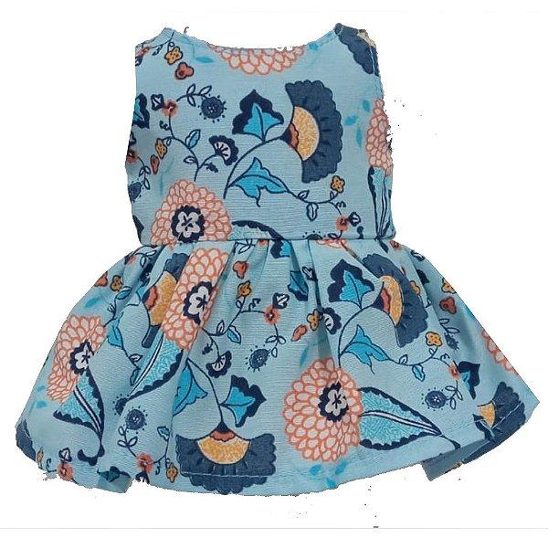 Vestido Boneca Camélias Bebê Reborn