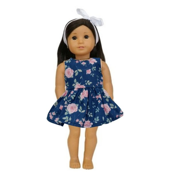 Vestido Boneca Marinho American Girl