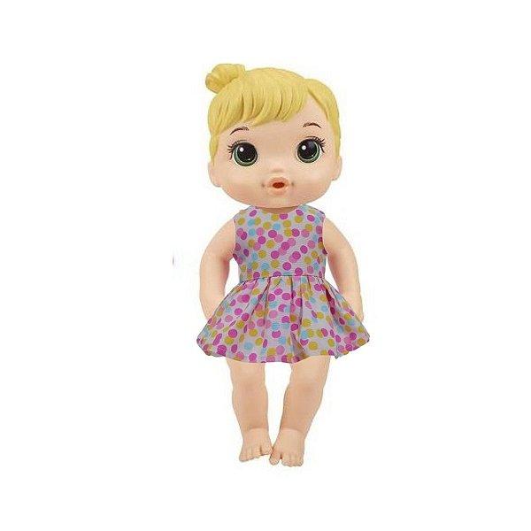 Vestido Boneca Confetes Baby Alive