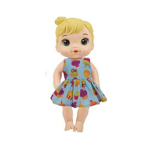Vestido Boneca Cupcakes Baby Alive