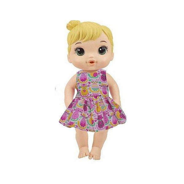Vestido Boneca Gatinhos Baby Alive