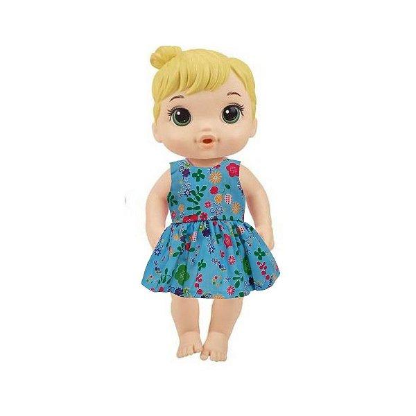 Vestido Boneca Azul Baby Alive