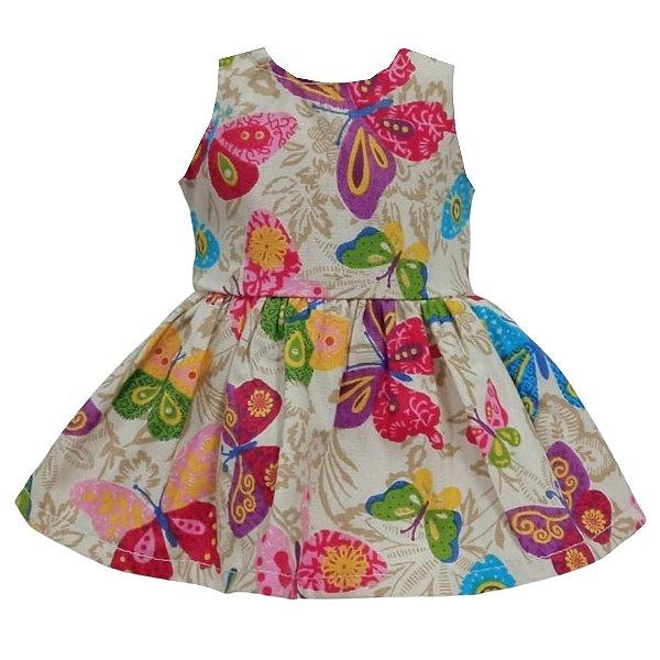 Vestido Boneca Jardim Encantado Bebê Reborn