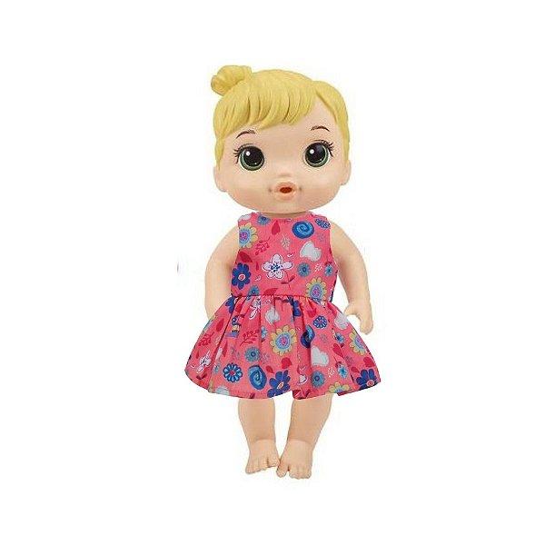 Vestido Boneca Coral Baby Alive