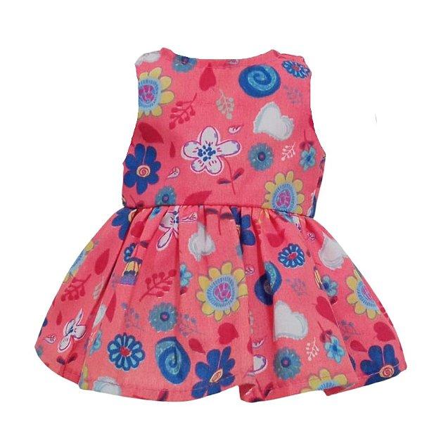 Vestido Boneca Coral Bebê Reborn
