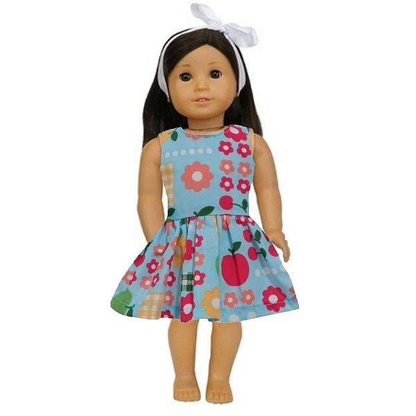 Vestido Boneca Picnic American Girl