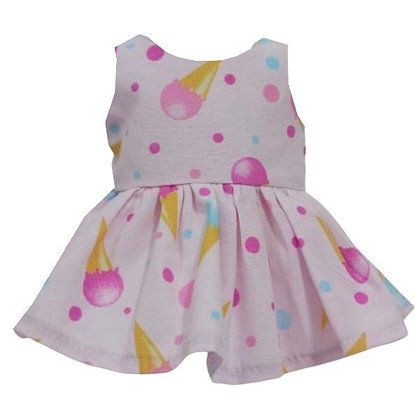 Vestido Boneca Sorvete Bebê Reborn