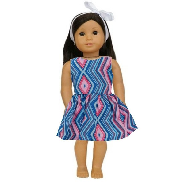 Vestido Boneca Geométrico American Girl