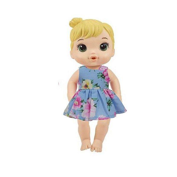 Vestido Boneca Rosas Baby Alive