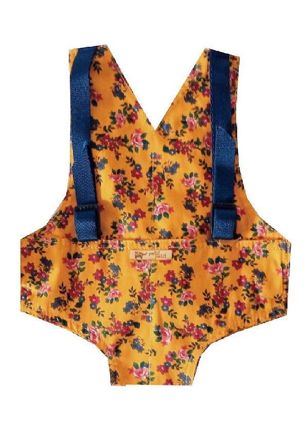 Canguru Amarelo Flores para Boneca Baby Alive