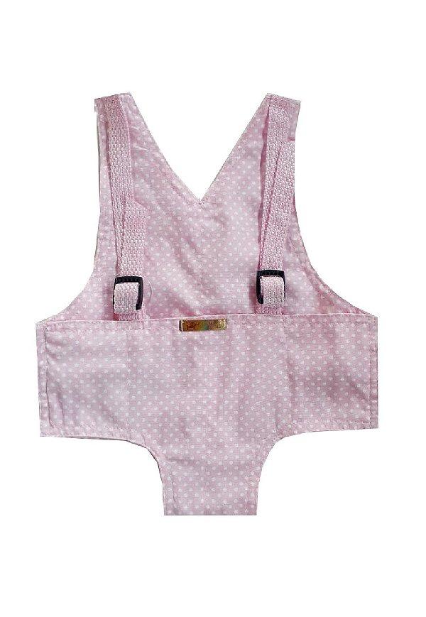 Canguru Bolinhas Rosa para Boneca  Bebê Reborn