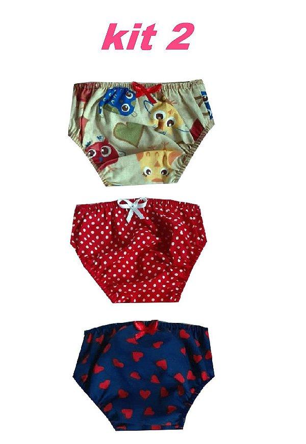 Kit com 3 Calcinhas para Boneca American Girl KIT 2
