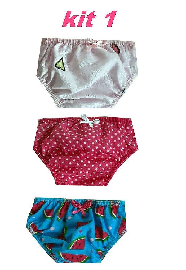Kit com 3 Calcinhas para Boneca American Girl KIT 1