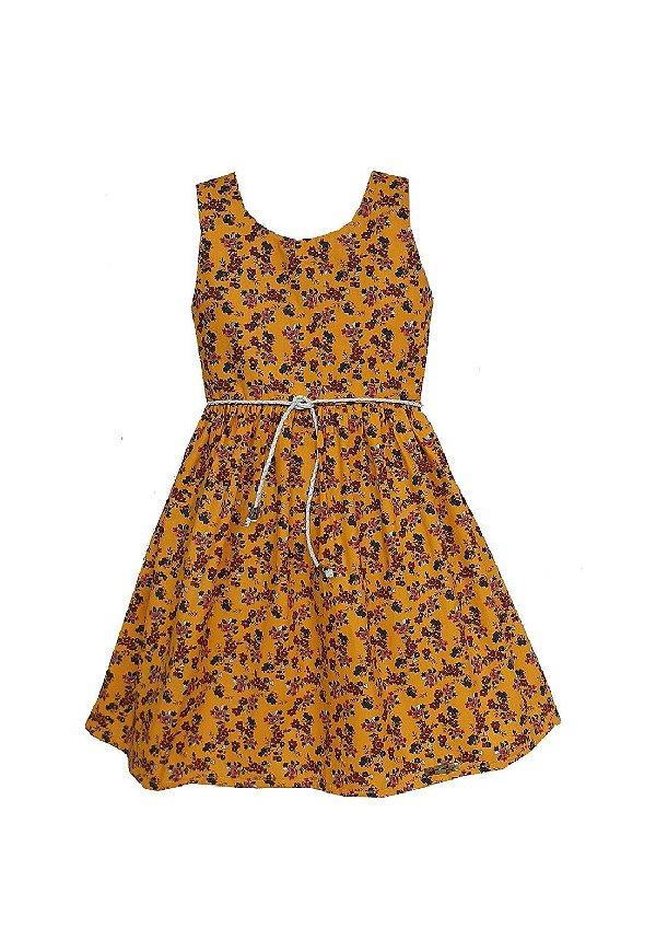 Vestido Petit Amarelo Flores