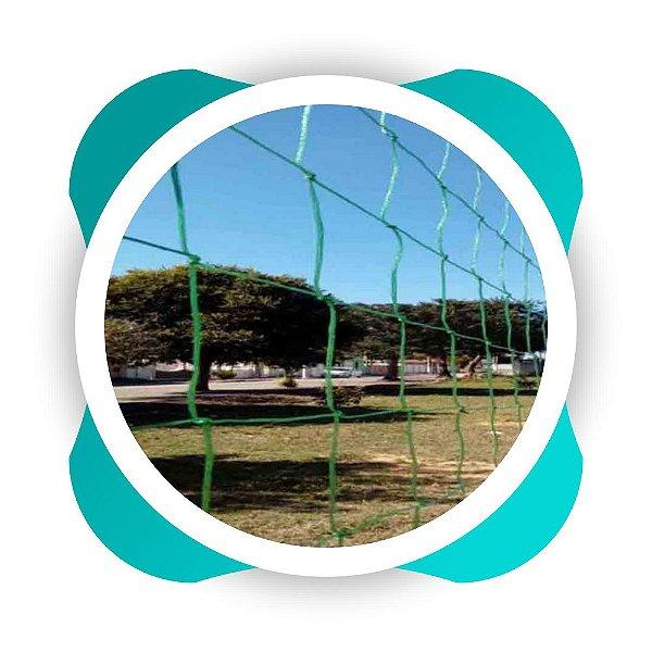 Rede de Proteção Esportiva Sob Medida para Lateral e Fundo de Campos Futebol, Society e Quadra de Futsal Fio 4mm Malha 10cm Nylon